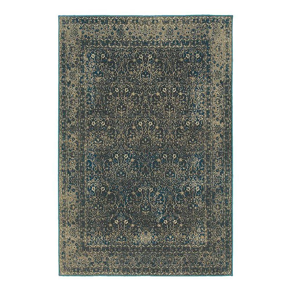 "Oriental Weavers Pasha 1337B 5'3"" x 7'6"" Navy Area Rug, , large"