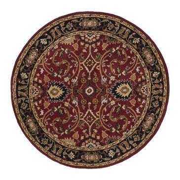 Surya Caesar CAE-1031 4' Round Burgundy, Black and Khaki Area Rug, , large
