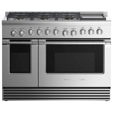 """Fisher and Paykel 48"""" Professional Liquid Propane Gas Range with 6-Burner in Stainless Steel, , large"""