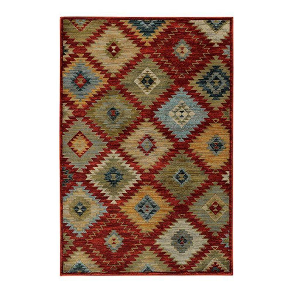 "Oriental Weavers Sedona 5936D 1'10"" x 3' Red Area Rug, , large"