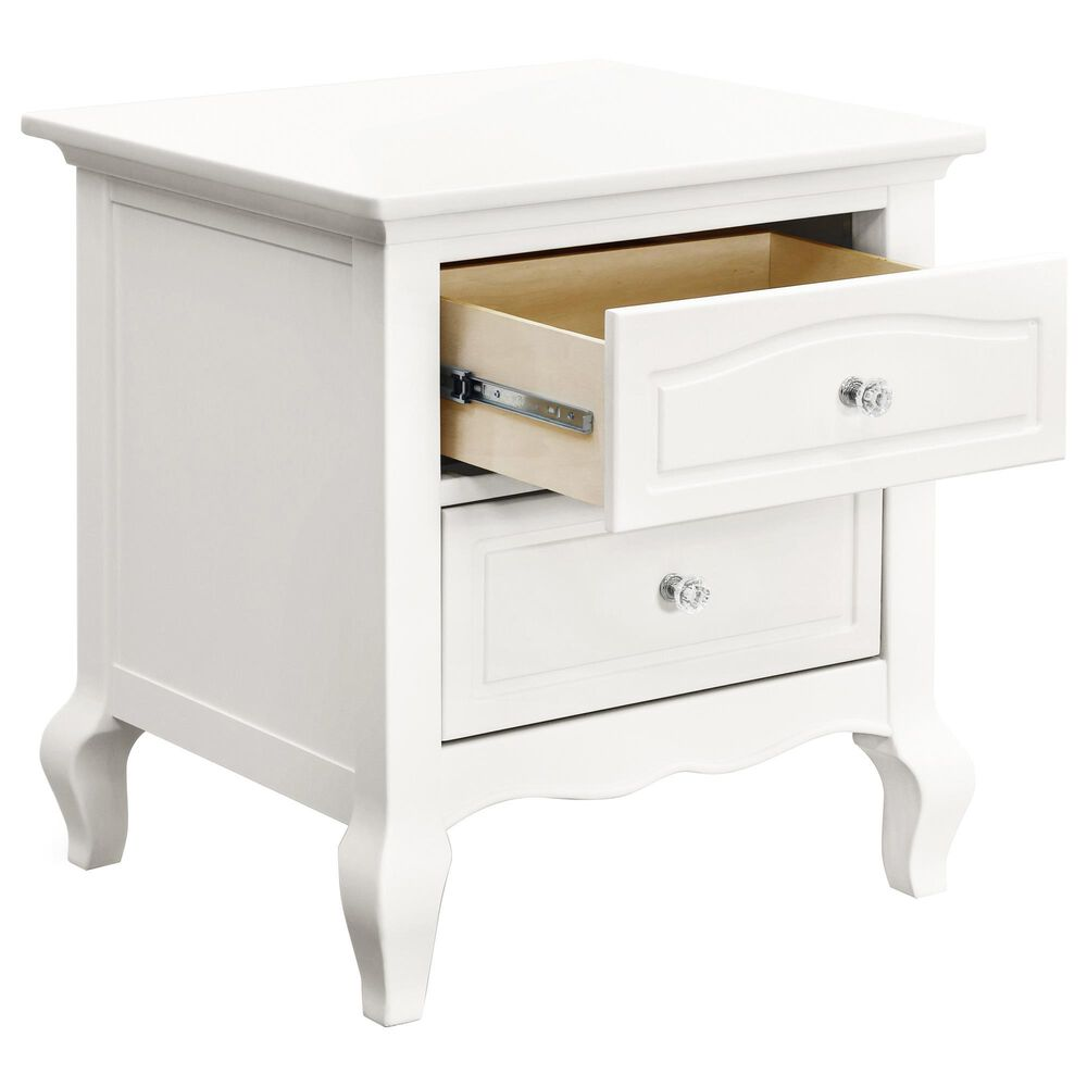 New Haus Mirabelle 2 Drawers Nightstand in Warm White, , large