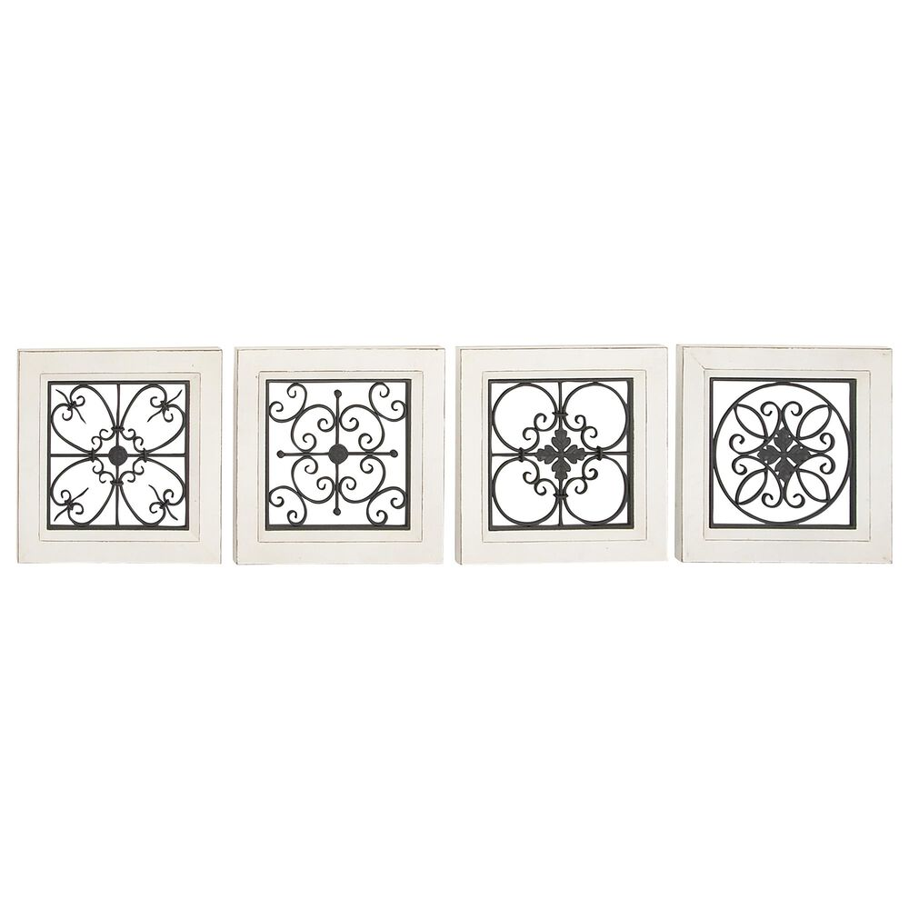 Maple and Jade Wall Plaque in Black (Set of 4), , large