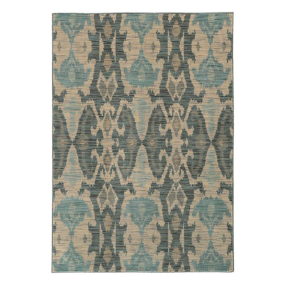 "Oriental Weavers Sedona 6410D 5'3"" x 7'6"" Ivory/Gray/Teal Area Rug, , large"