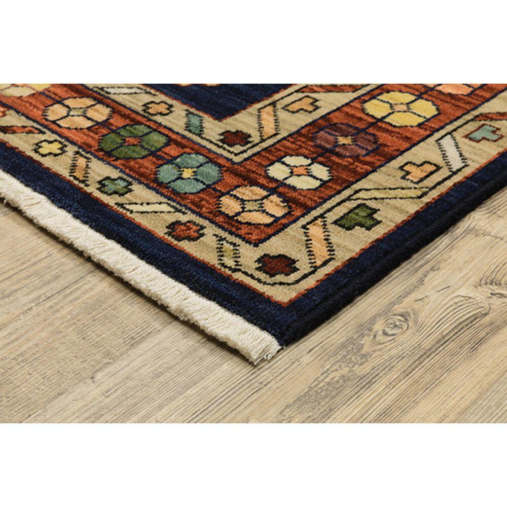 "Oriental Weavers Lilihan Oriental 090B6 5'3"" x 7'6"" Blue and Red Area Rug, , large"