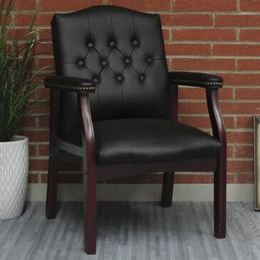 Regal Co. Boss Guest Chair in Black, , large