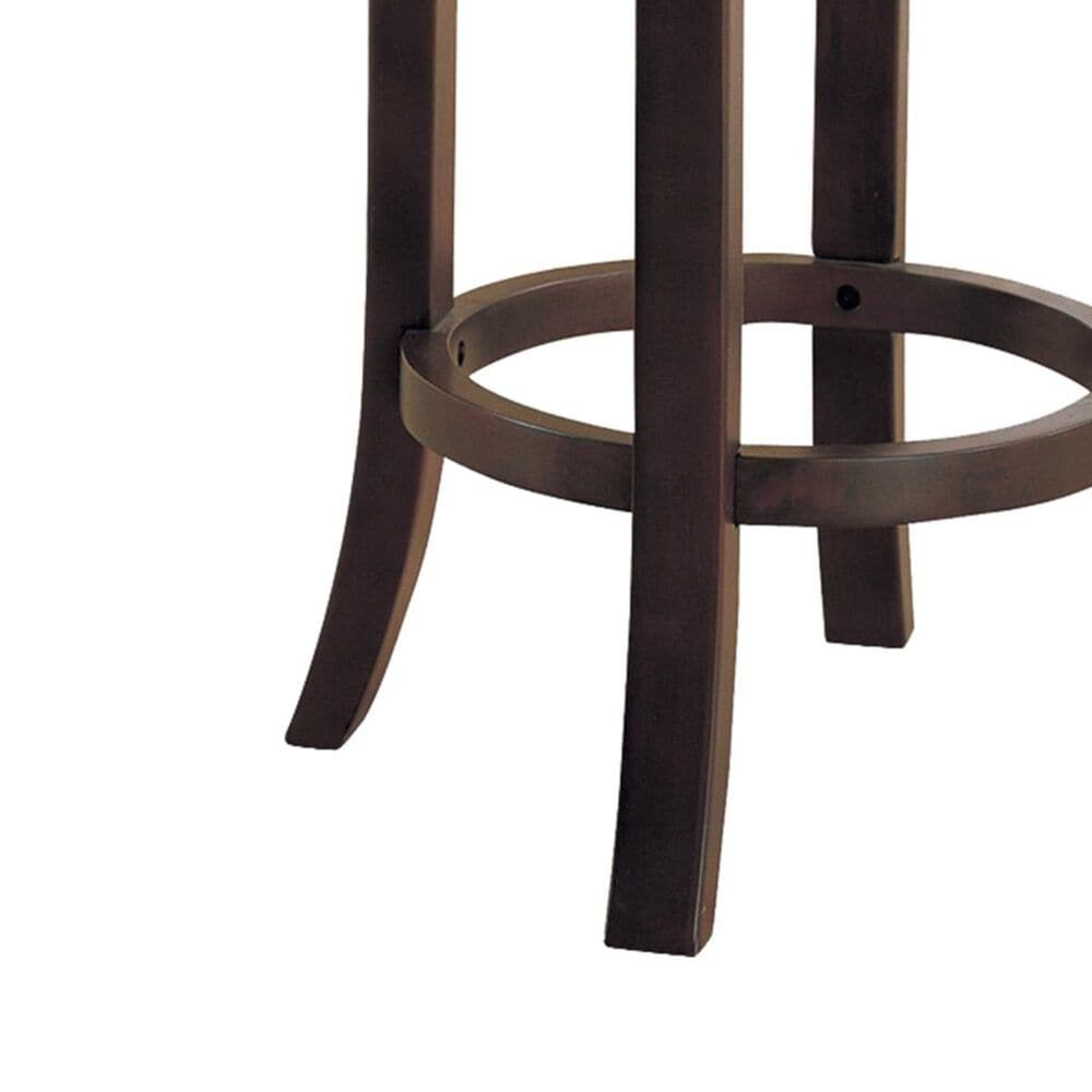 """Pacific Landing 29"""" Swivel Backless Barstool in Walnut - Set of 2, , large"""