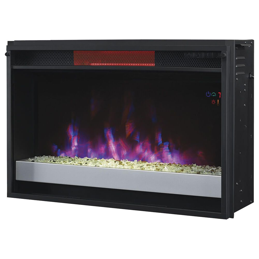 """Fabio Flames Cantilever TV Stand with 26"""" Infrared Quartz Electric Fireplace Insert, , large"""