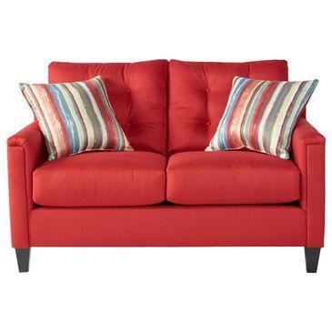 Hughes Furniture Loveseat in Jitterbug Red, , large