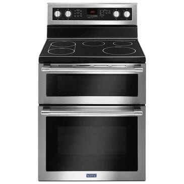 """Maytag 6.7 Cu. Ft. 30"""" Wide Double Oven Electric Range with True Convection , , large"""