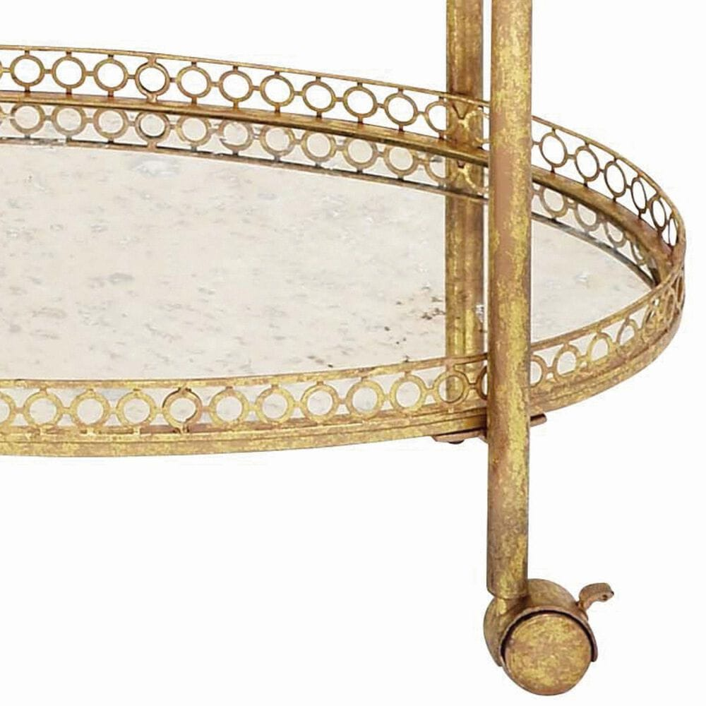 """Maple and Jade 35"""" x 30"""" 2-Tier Cart in Gold, , large"""