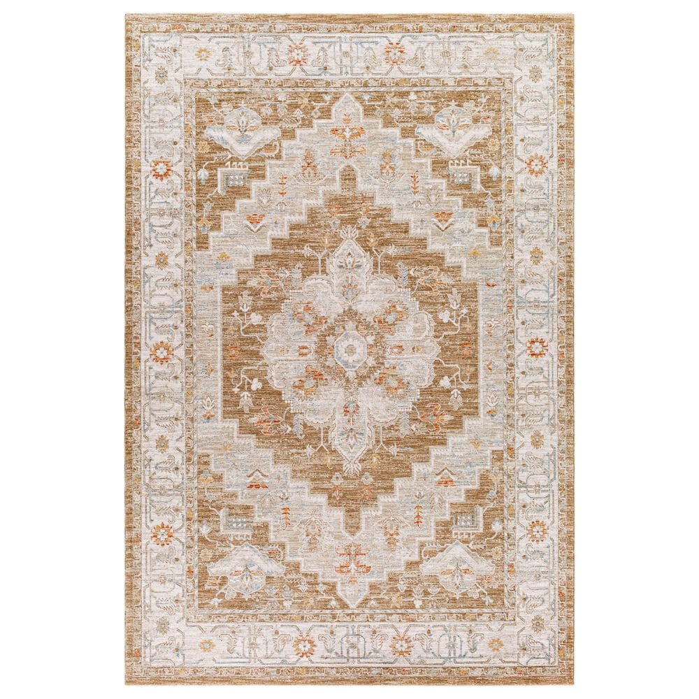 "Surya Avant Garde AVT-2315 2'7"" x 10' Orange, Blue and Beige Runner, , large"