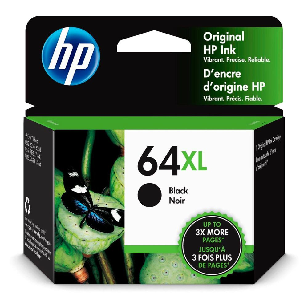 HP 64XL High Yield Black Original Ink Cartridge, , large