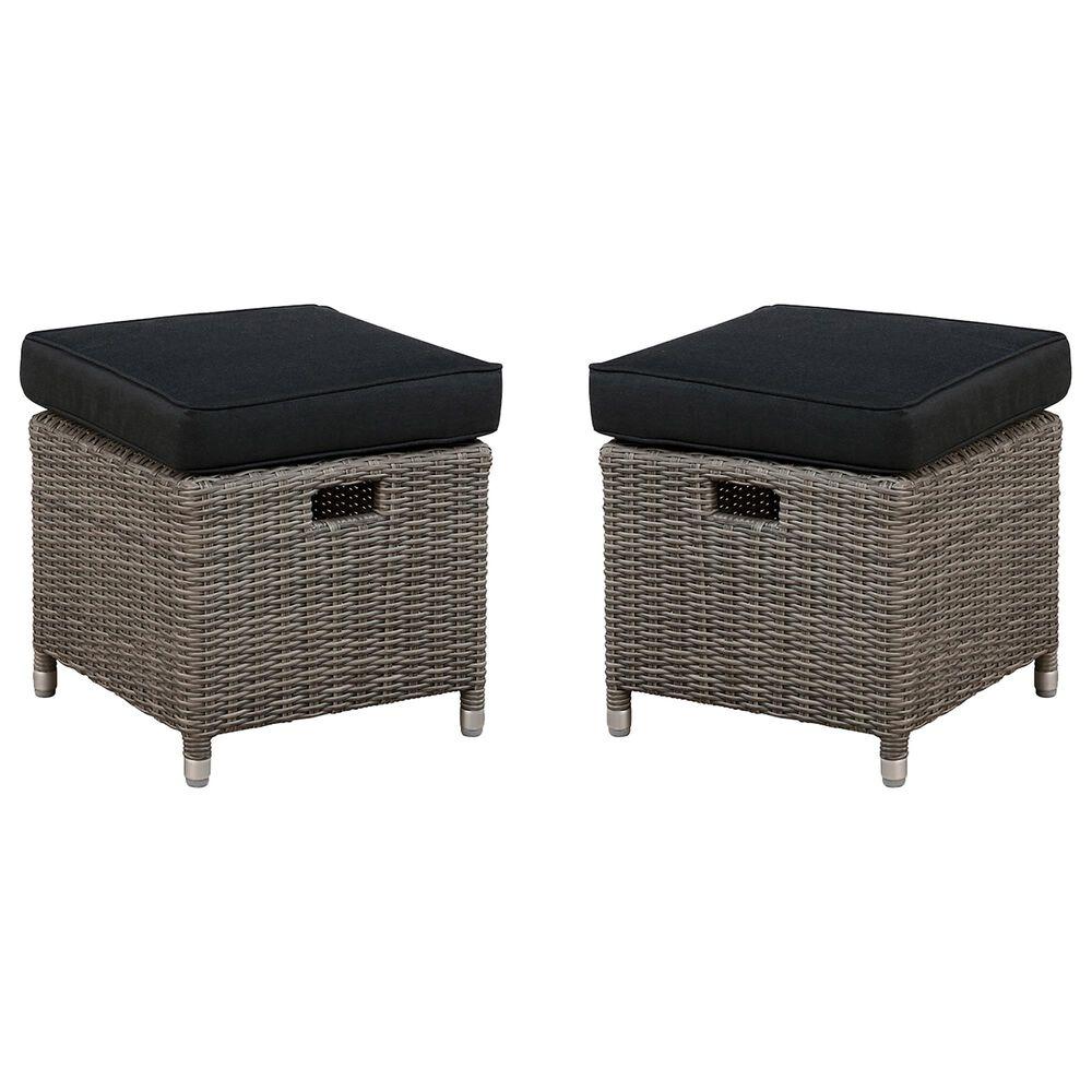 """Bolton Furniture Monaco 17"""" Patio Ottoman in Gray (Set of 2), , large"""
