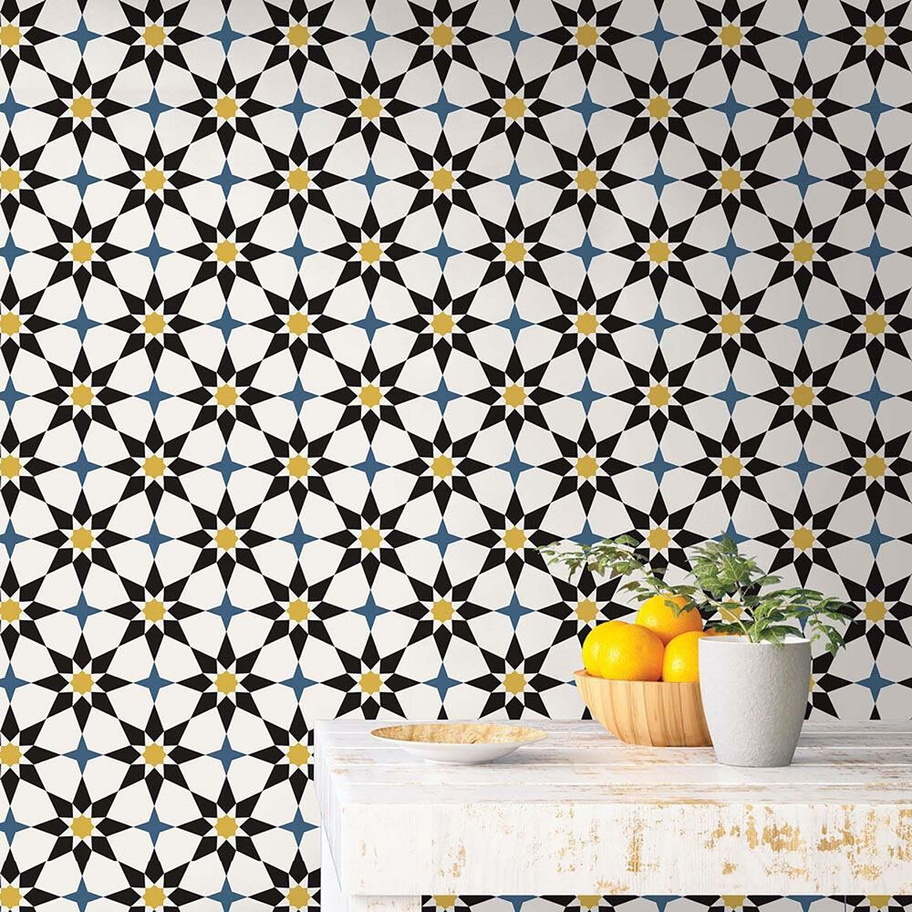 Tempaper Soleil Moroccan Spice Peel and Stick Wallpaper, , large