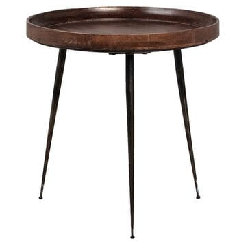 Blue Sun Designs Magi Side Table in Dark Brown and Metal, , large