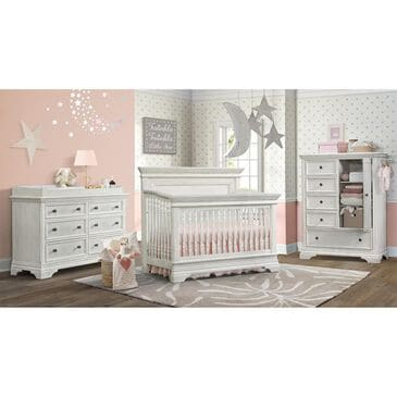 Eastern Shore Olivia Crib, Dresser and Hutch in Brushed White, , large