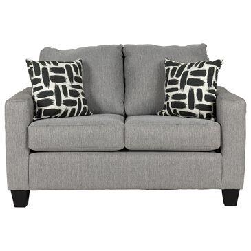 Carolina Furniture Chevee Loveseat in Dizzy Charcoal, , large
