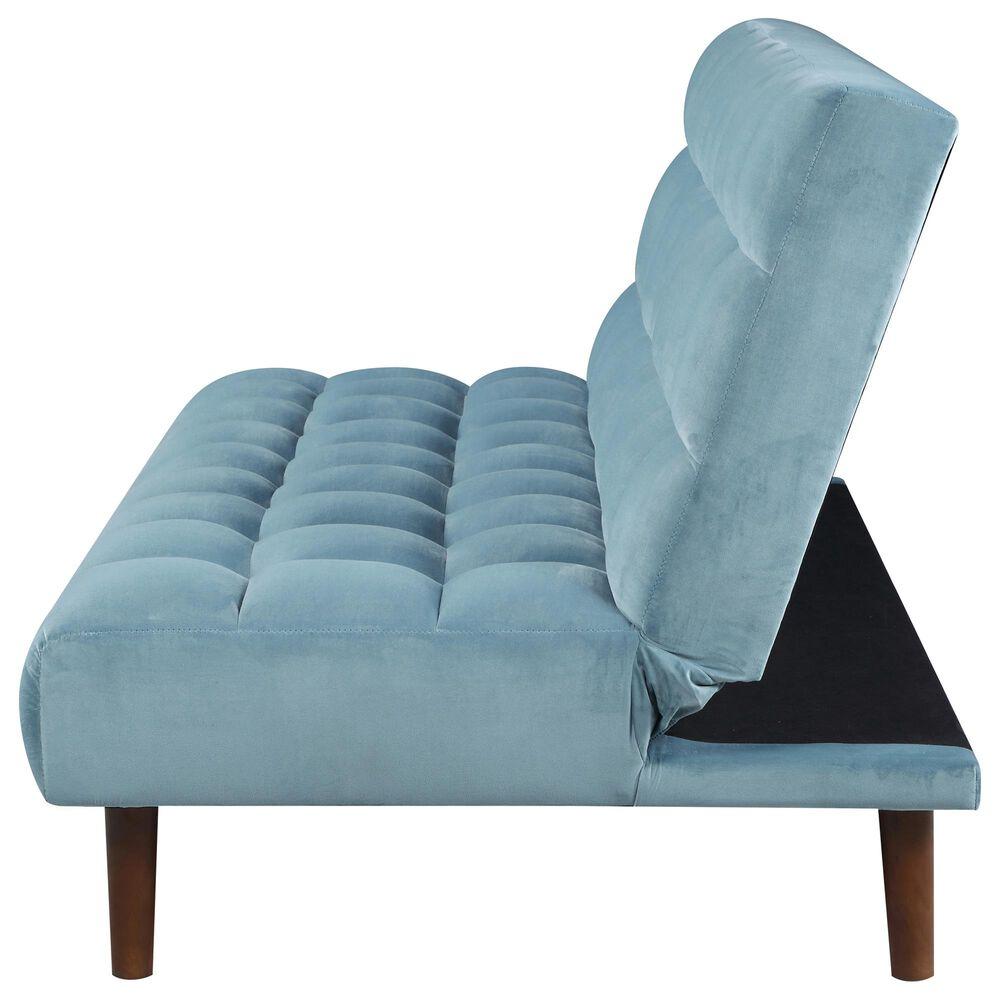 Pacific Landing Cullen Biscuit Sofa Bed in Teal Velvet, , large
