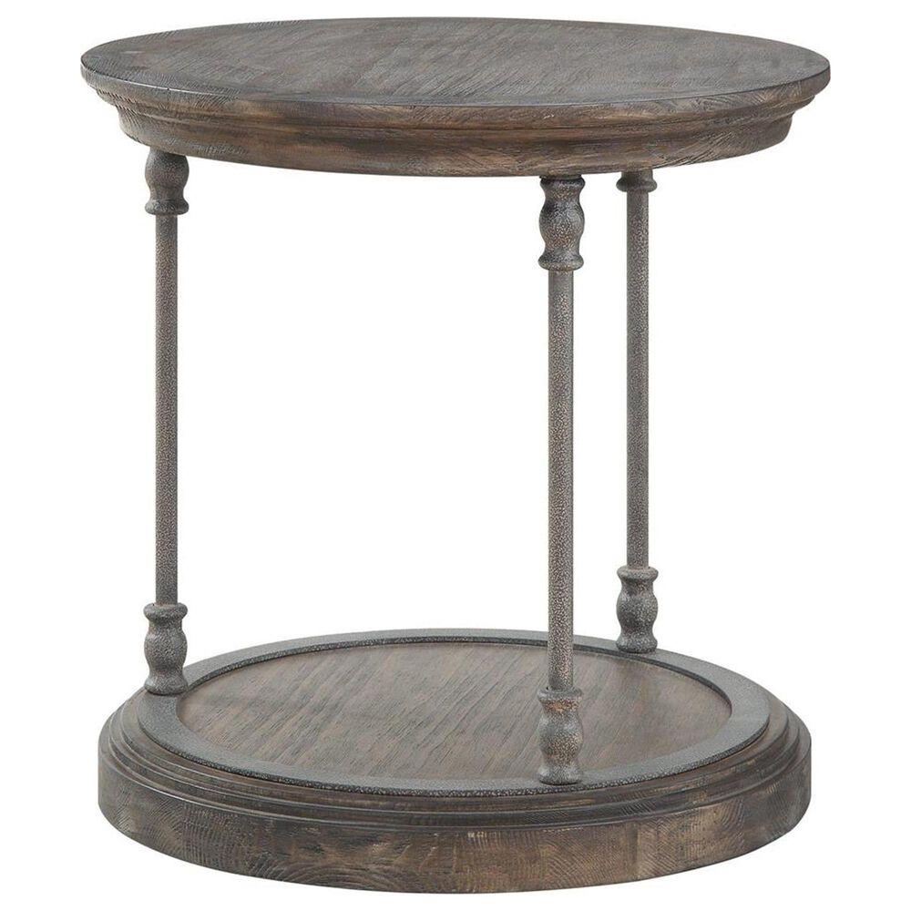 Shell Island Furniture Corbin Round End Table in Corbin Medium Brown, , large