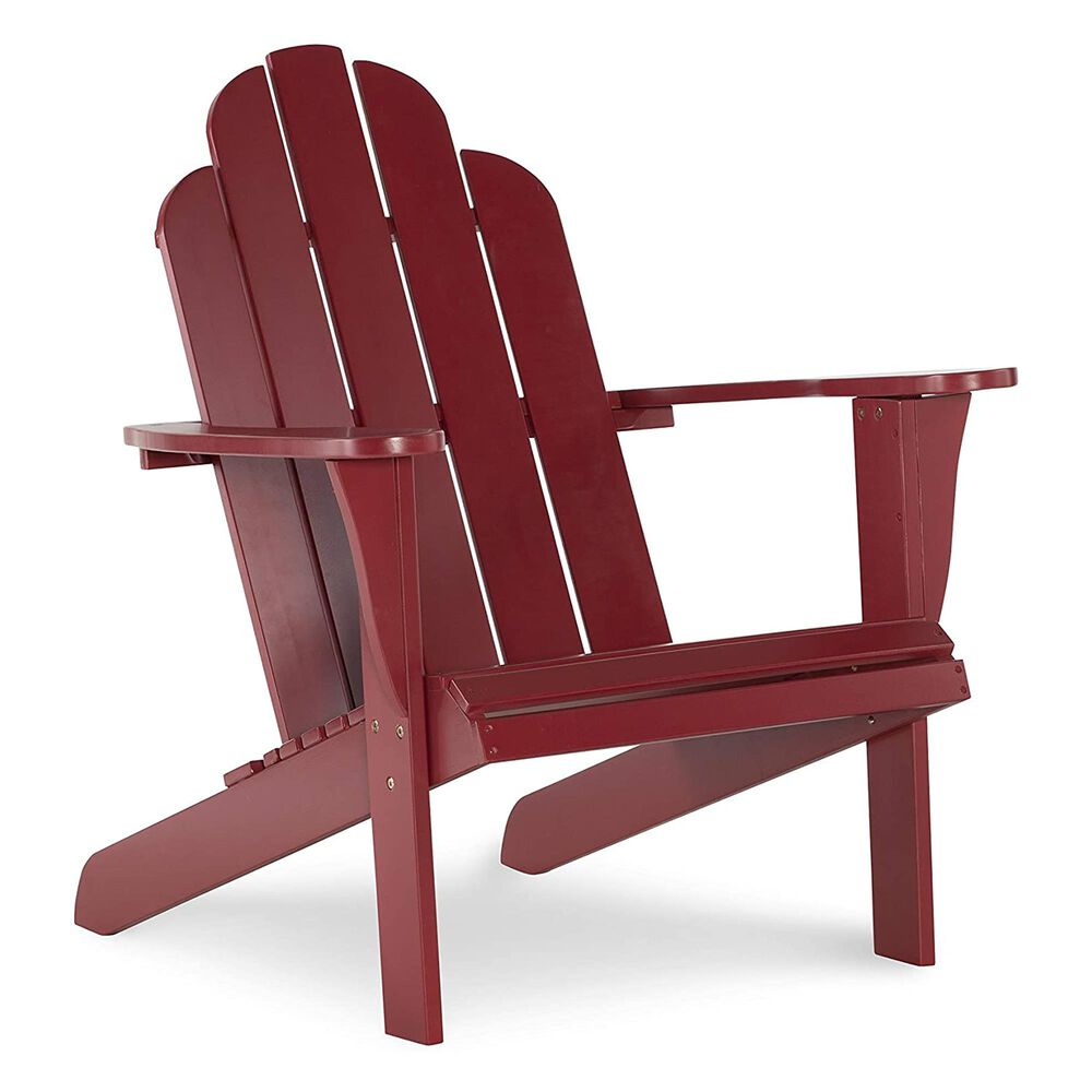 Linden Boulevard Adirondack Chair in Red, , large