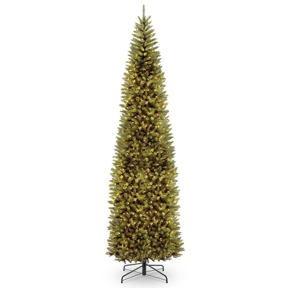 """National Tree 12"""" Kingswood Fir Pencil Tree with 800 White Lights, , large"""