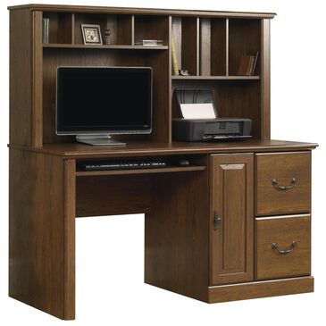 Sauder Orchard Hills Computer Desk with Hutch in Milled Cherry, , large