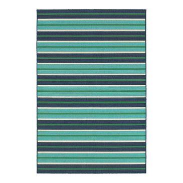 "Oriental Weavers Meridian 9652F 3'7"" x 5'6"" Blue Area Rug, , large"