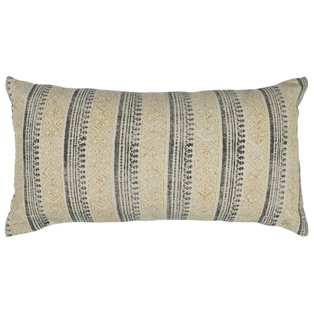 """Rizzy Home 14"""" x 26"""" Poly Fill Pillow in Gray, , large"""