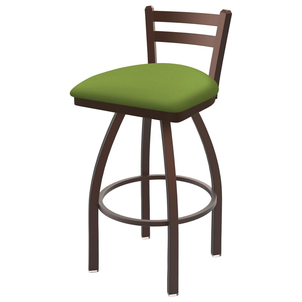 """Holland Bar Stool 411 Jackie 25"""" Low Back Swivel Counter Stool with Bronze and Canter Kiwi Green Seat, , large"""