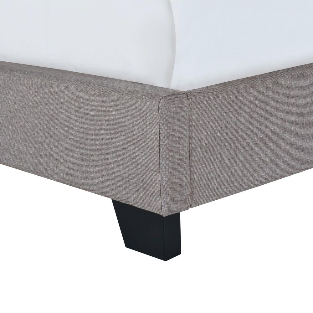 Accentric Approach Twin Upholstered Panel Bed in Dark Gray, , large