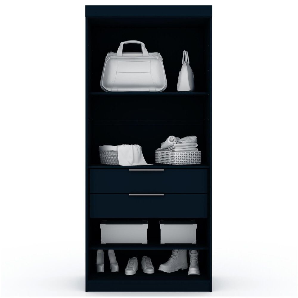Dayton Mulberry 2 Drawer Armoire Closet in Midnight Blue, , large