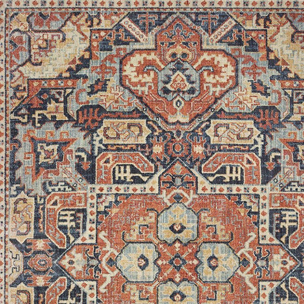 "Oriental Weavers Pandora 49S 3'10"" x 5'5"" Blue and Orange Area Rug, , large"