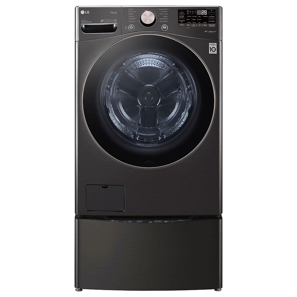 LG 4.5 Cu. Ft. Front Load Washer with TurboWash 360 in Black Steel, , large
