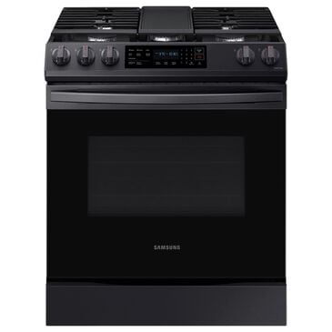 Samsung 6.0 Cu. Ft. Front Control Slide-in Gas Range with Convection and Wi-Fi in Black Stainless Steel, , large