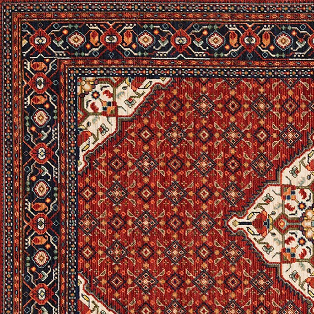 "Oriental Weavers Lilihan Medallion 001C6 9'10"" x 12'10"" Red Area Rug, , large"