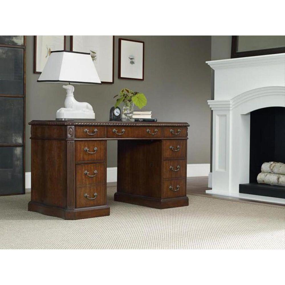 Hooker Furniture Kneehole Desk in Cherry, , large