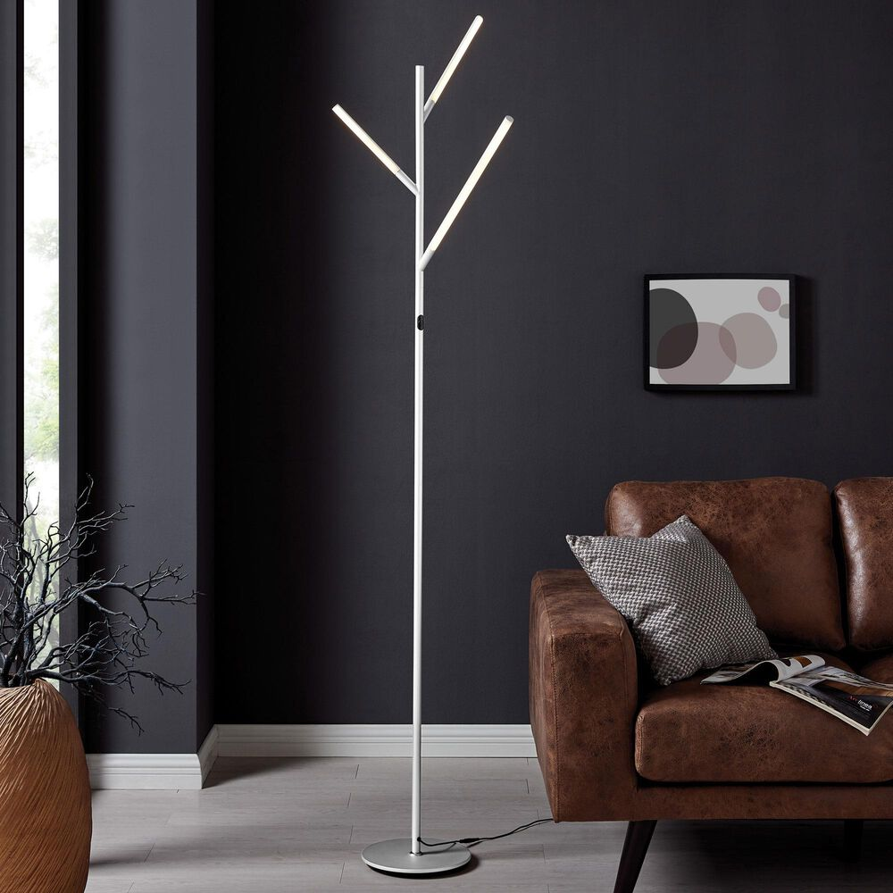 Lite Source Lorant 3-Lite 22W LED Floor Lamp in Silver, , large