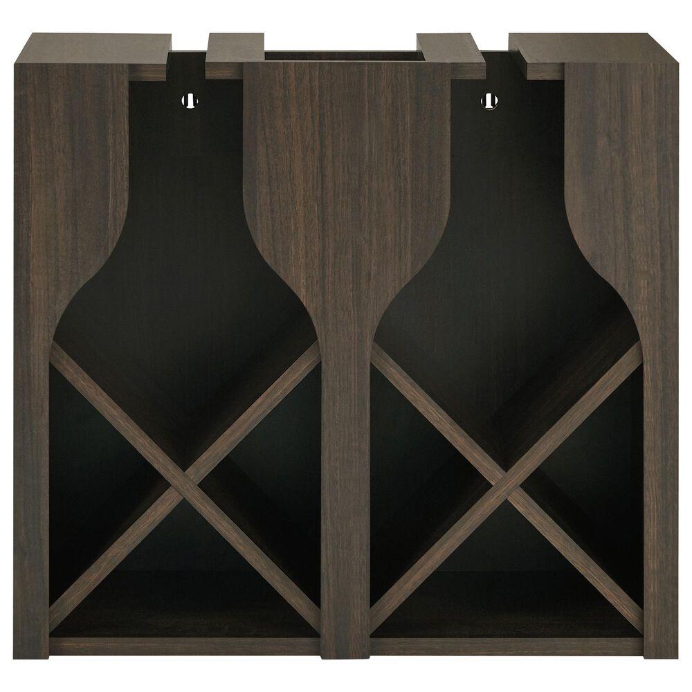 Furniture of America Garrison Wine Rack in Wenge, , large