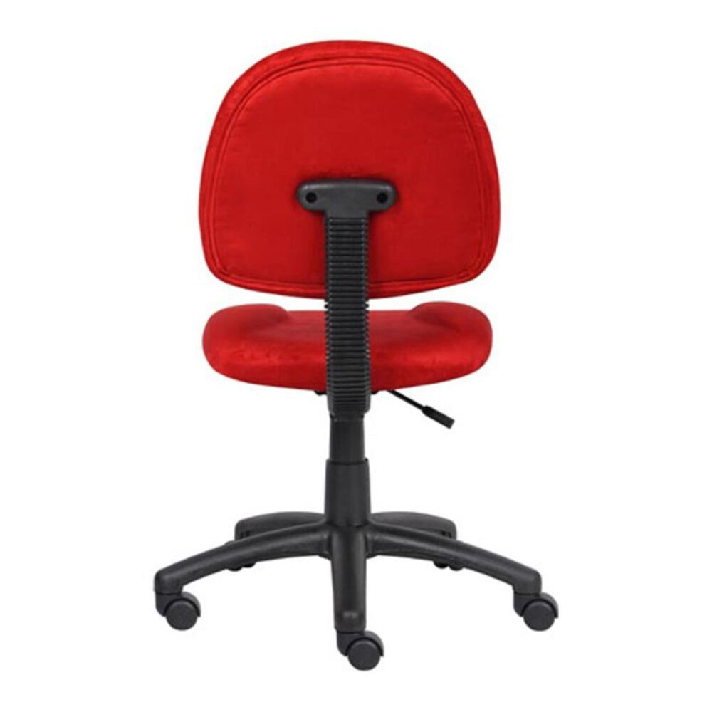 Regal Co. Boss Deluxe Posture Microfiber Chair in Red, , large