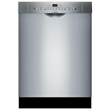 "Bosch Ascenta Series 24"" Recessed Handle Built-In Dishwasher in Stainless Steel , Stainless Steel, large"
