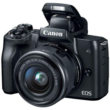 Canon EOS M50 Mirrorless Digital Camera with EF-M 15-45mm f/3.5-6.3 and 55-200mm f/3.5-6.3 IS STM Bundle, , large