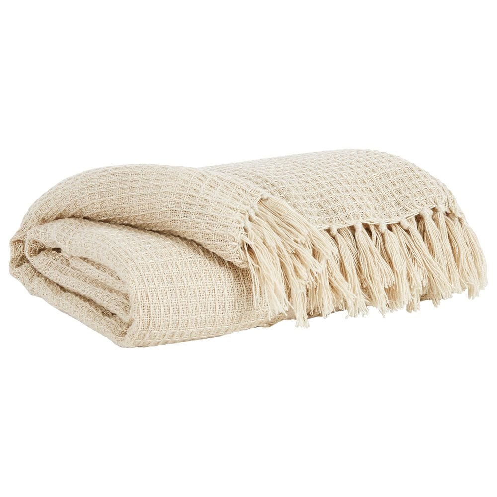 Signature Design by Ashley Rowena Throw in Cream, , large