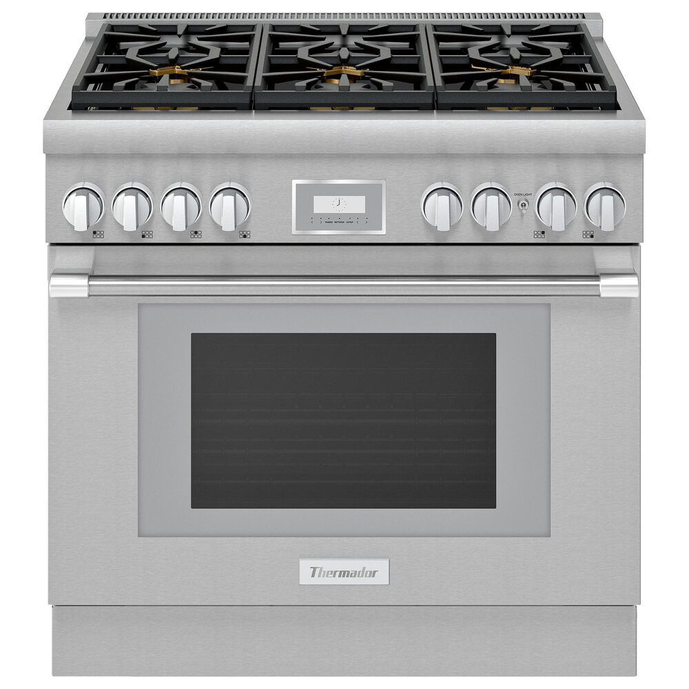 """Thermador 36"""" Professional Harmony Standard Depth Gas Range with 6 Burners in Stainless Steel, , large"""