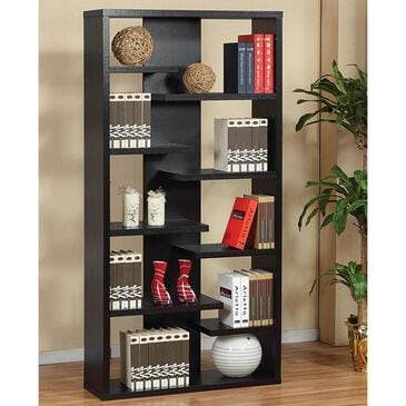 Living Essentials Display Cabinet with 9 Shelves in Black, , large