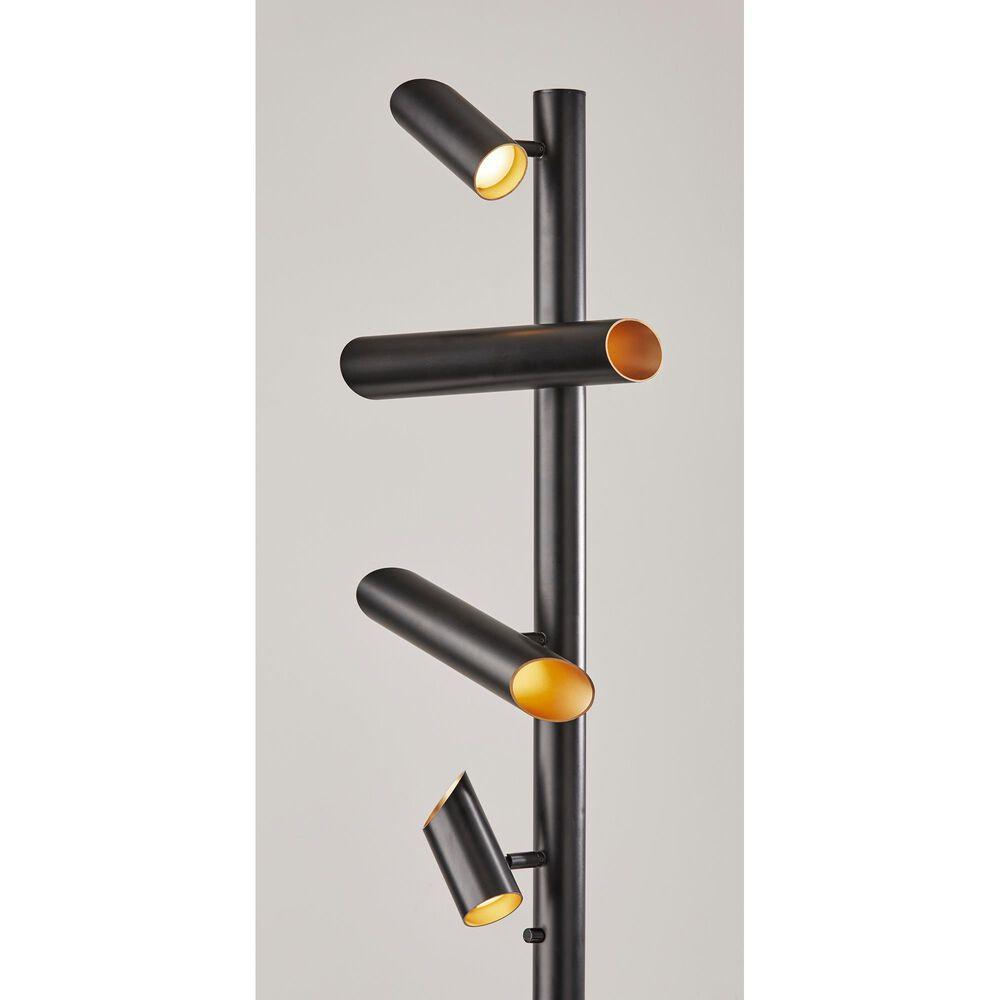 Adesso Tyler LED Floor Lamp in Black, , large