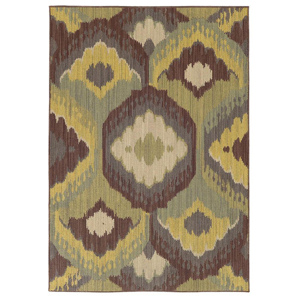 """Oriental Weavers Cabana 929N2 9""""10"""" x 12""""10"""" Brown Area Rug, , large"""