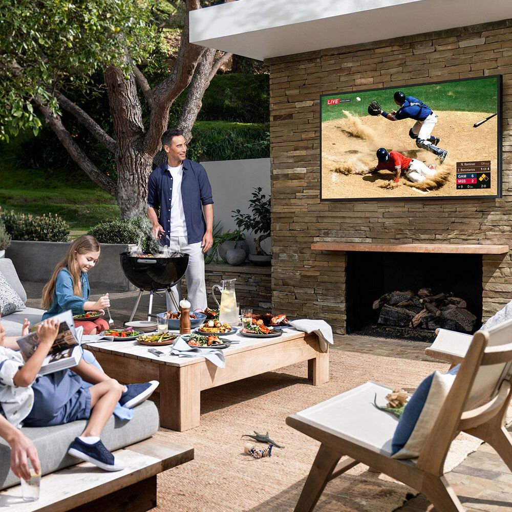 """Samsung 75"""" Class The Terrace Outdoor QLED 4K UHD HDR - Smart TV, , large"""