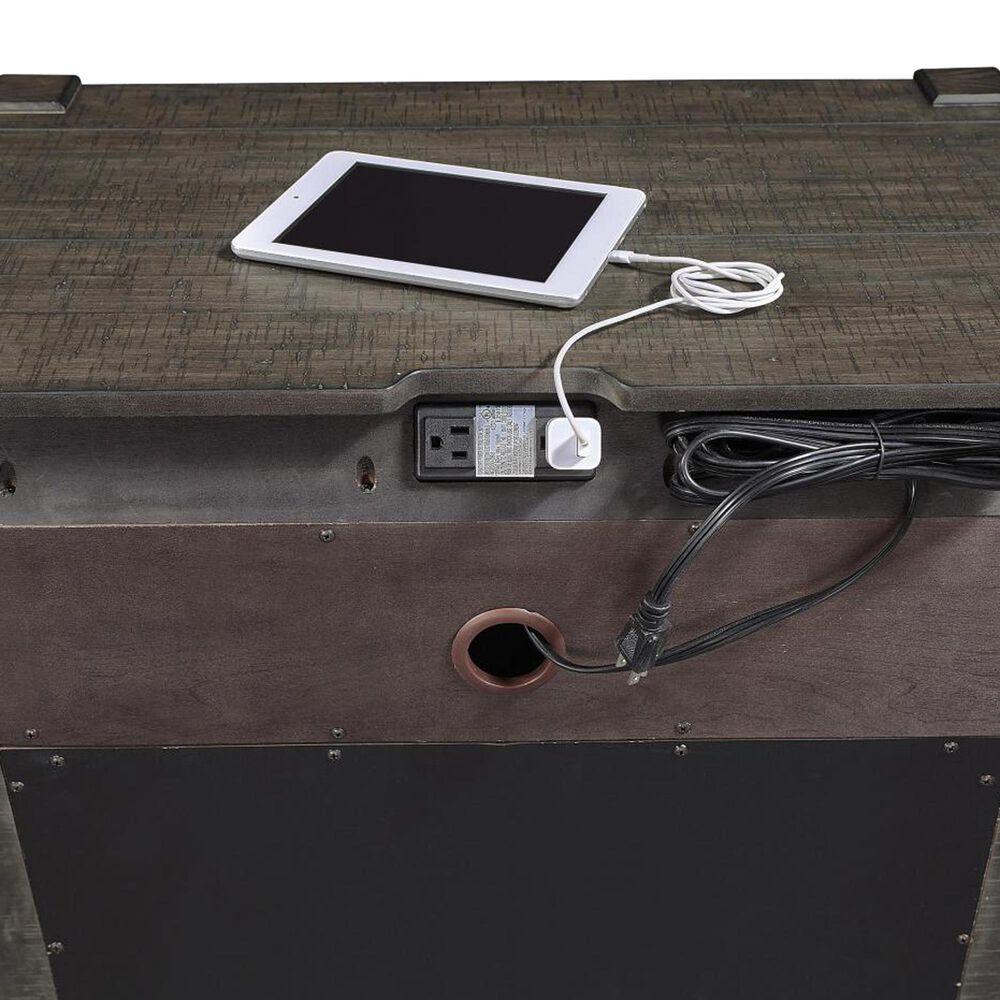 Riva Ridge Mill Creek 5 Piece Twin Low Profile Bed Set with 2-Drawer Nightstand in Carob, , large
