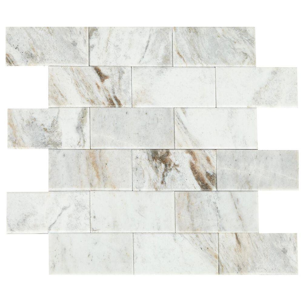 "Dal-Tile SimplyStick Daphne White 12""x12"" Bevel Mosaic Sheet, , large"
