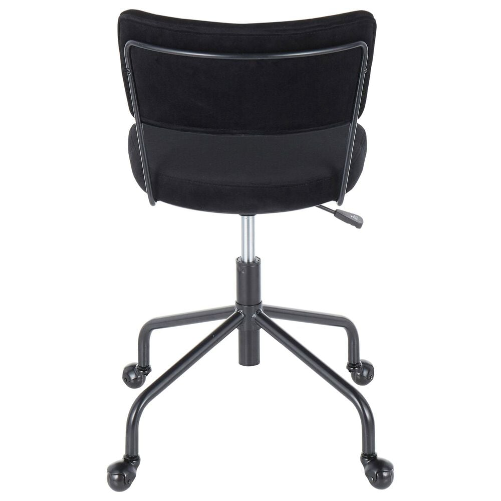 Lumisource Tania Task Chair in Black/Black, , large